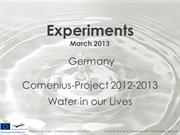 Water experiments - Germany
