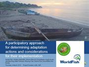 A participatory approach for determining adaptation actions