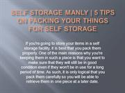 Self Storage Manly - 5 Tips on Packing Your Things for Self Storage