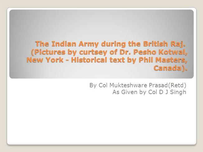 British indian army authorstream the indian army during the british raj toneelgroepblik Images