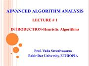 Chapter 1-Heuristic Algorithm