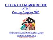Quiznos Coupons 2013 - Quiznos Coupons 2013