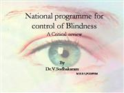 National programme for control of Blindn
