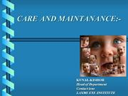 care and maintance