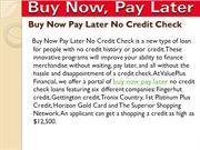 major buy now pay later no credit check are reputable