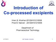co processed excipients