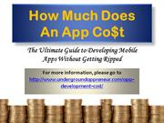 How Much Does An App Cost