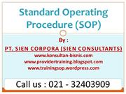 Jasa Konsultan SOP dan Training SOP (Standard Operating Procedure)