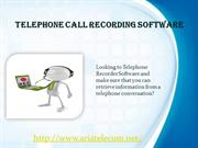 Telephone Call Recording Software