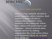 African Universe ppt