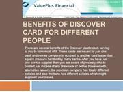 Benefits Of Discover Card for Different People