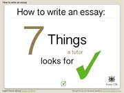 Essay writing | How to write an essay | 7 things a tutor will look for