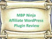 MBP Ninja Affiliate WordPress Plugin Review
