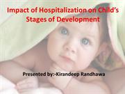 impact of hospitalization on stages of development