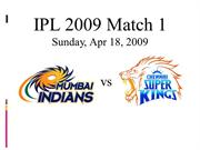 Mumbai Indians Chennai Superkings match1