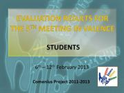SS_EVALUATION RESULTS FOR THE 5TH MEETING IN VALENCE