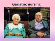 geriatric nursing
