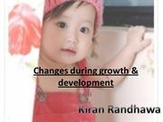Changes during growth & development