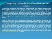 The right way to have the Very affordable locksmith services