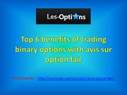 Top 6 benefits of trading binary options with