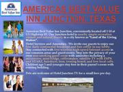 Americas Best Value Inn Junction TX, Junction Texas Hotels.