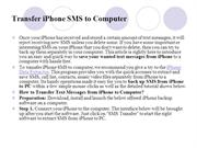 Transfer iPhone SMS to Computer
