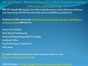 MY GP Cloud - Microsoft Dynamics Web Based Accounting Software and Rep