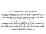 How To Make Easy Money Online With ...