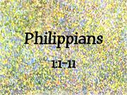 Philippians 1:1-11