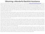 Obtaining a Wonderful Backlink Assistance