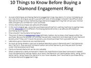 10 Things To Know Before Buying A Diamond Engagement Ring