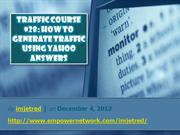 Traffic Course 28 How To Generate Traffic Using Yahoo Answers