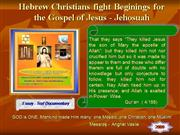 Hebrew Christians fight  for Jesus