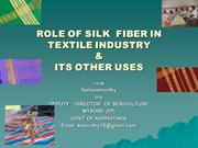 Role of Silk Fiber in Textile Industry