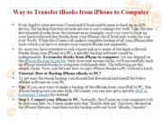Way to Transfer iBooks from iPhone to Computer
