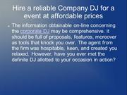 Hire a reliable Company DJ for a  event at affordable prices