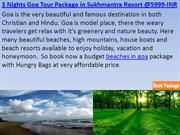 3 Nights Goa Tour Package in Sukhmantra Resort N Spa