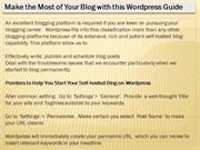 Make the Most of Your Blog with this Wordpress Guide