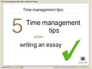 Essay Writing | 5 Time Management Tips When Writing an Essay