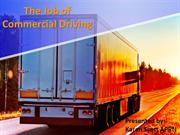 The Job of Commercial Driving