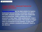 Transport Software - Advanced Features for Logistics Businesses