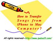 How to Transfer Songs from iPhone to Mac Computer