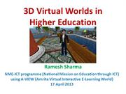 3D Virtual Worlds in Higher Education