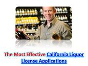 California Liquor License Applications