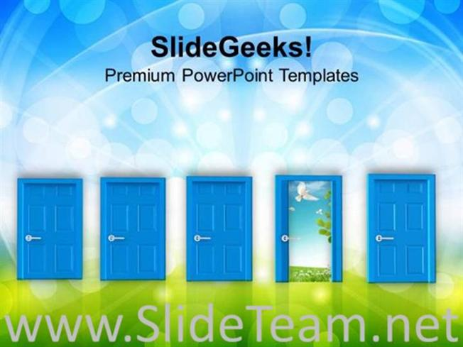 Architectural Doors High Resolution Powerpoint Template Powerpoint
