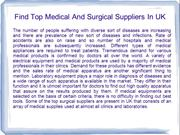 Medical And Surgical Suppliers In UK