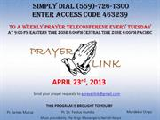 Tuesday April 23rd 2013 Prayerlink