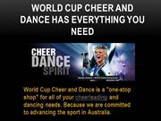 What World Cup Cheer and Dance can Offer