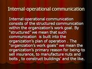 Internal-operational communication
