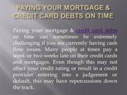 Paying your Mortgage & Credit Card Debts on Time   Refinance